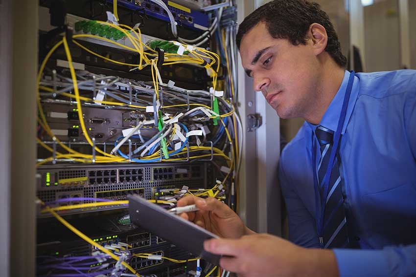 it-professional working on servers and cloud security in boulder colorado