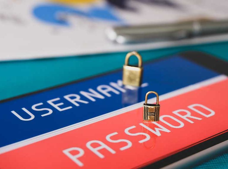 username and password for cyber security graphic